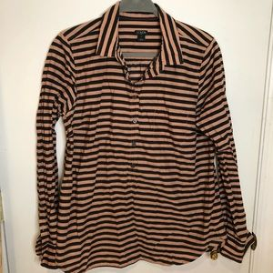 J. Crew Pink Navy Stripe Blouse